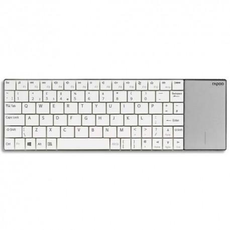 RAPOO Clavier sans fil touchpad blanc E2710 RA16201
