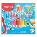 MAPED Pochette carton de 24 feutres JUMBO EARLY AGE