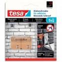 TESA Boîte de 2 Vis adhésives rectangulaire, pour brique et pierre, charge 5 kg - Dim L14 x H2 x P0,2 cm