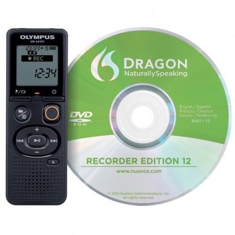 OLYMPUS Enregistreur numérique VN541PC+ logiciel DNS12 4Go V405281BE030