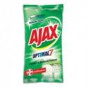AJAX Paquet de 50 lingettes Optimal7 antibactérien pour cuisine et surfaces grasses, nettoyage intense