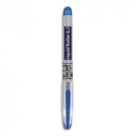 PLEIN CIEL Stylo roller pointe aiguille fine encre liquide bleue corps plastique