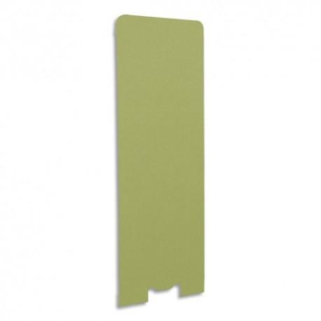 GAUTIER OFFICE Cloison de séparation en textile Kiwi, socle en acier laqué blanc - Dim L60 x H170 x P3 cm