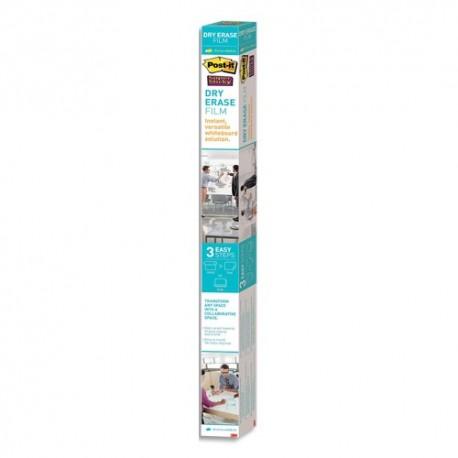 POST-IT Tableau blanc en rouleau Super Sticky Post-it, 121,9 m x 243,8 cm + microfibre Scotch-Brite