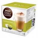 DOLCE GUSTO Boîte de 2 x 8 capsules Cappuccino de pur Arabica moulu et de Lait en poudre sucré, 200g