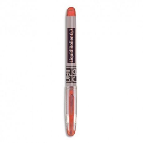 PLEIN CIEL Stylo roller pointe aiguille fine encre liquide rouge corps plastique