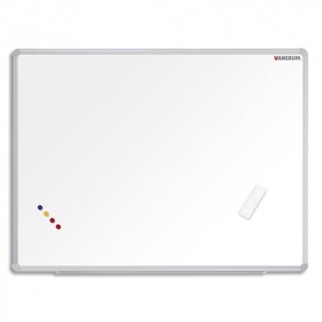 VANERUM Tableau blanc effaçable à sec en acier laquée SB, cadre aluminium, magnétique L120 x H90 cm