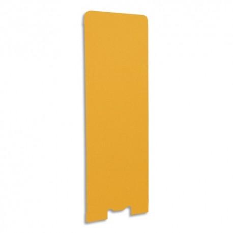 GAUTIER OFFICE Cloison de séparation en textile Mandarine, socle en acier laqué blanc L60 x H170 x P3 cm