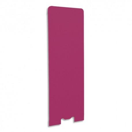 GAUTIER OFFICE Cloison de séparation en textile Framboise, socle en acier laqué blanc L60 x H170 x P3 cm