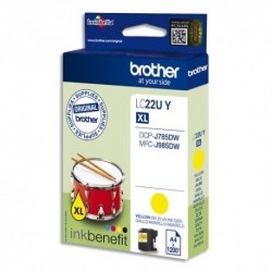 BROTHER (LC-22U) Cartouche Jet encre jaune LC22UY