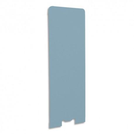 GAUTIER OFFICE Cloison de séparation en textile Bleu azur, socle en acier laqué blanc L60 x H170 x P3 cm