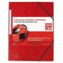 PLEIN CIEL Paquet de 5 chemises 3 rabats et élastique en carte lustrée rouge 43188091