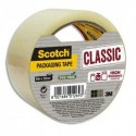 SCOTCH Ruban d'emballage Classic en PP 41 microns - Dim : H50 mm x L50 mètres transparent BP966
