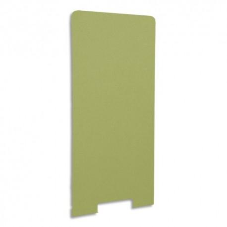 GAUTIER OFFICE Cloison de séparation en textile Kiwi, socle en acier laqué blanc - Dim L80 x H170 x P3 cm
