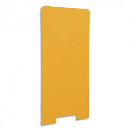 GAUTIER OFFICE Cloison de séparation en textile Mandarine, socle en acier laqué blanc L80 x H170 x P3 cm