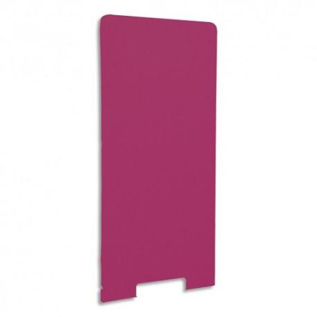 GAUTIER OFFICE Cloison de séparation en textile Framboise, socle en acier laqué blanc L80 x H170 x P3 cm