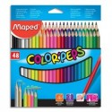 MAPED Pochette 48 crayons de couleur COLOR'PEPS
