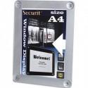 SECURIT Securit Porte-affiches pour vitres, double-face, résistant aux UV, format A4, coloris gris