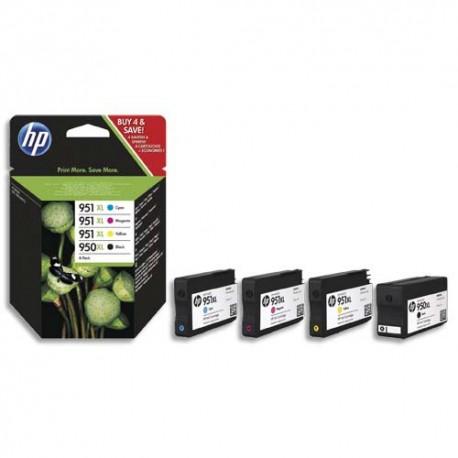 HP 950XL /951XL Pack de 4 cartouches jet d'encre HC de marque HP C2P43AE (HP N°950XL/951XL)