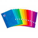 OXFORD Cahier SCHOOL piqûre 96 pages Seyès 21x29,7. Couverture carte coloris bleu