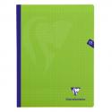 CLAIREFONTAINE Cahier MIMESYS brochure cousue 192 pages Séyès 24x32. Couverture polypropylène verte