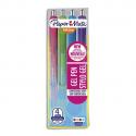 PAPERMATE Blister 6 stylos INKJOY GEL. Coloris : noir, rouge, rose, violet, turquoise, vert pomme