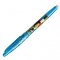 PILOT Stylo à bille encre gel qui s'efface à l'aide de la gomme en bout de stylo FRIXION MIKA turquoise