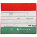 EXACOMPTA Piqûre 27x32cm Journal de caisse ou banque 13 débit - 6 crédit 31 lignes 80 pages