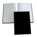 ELVE Registre toilé folioté, format 21 x 29,7 cm. 200 pages quadrillé 5/5. Coloris noir