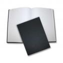 ELVE Registre toilé folioté, format 21 x 29,7 cm. 300 pages quadrillé 5/5. Coloris noir