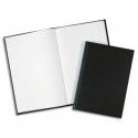 ELVE Registre toilé folioté, format 36 x 23 cm. 200 pages quadrillé 5/5. Coloris noir
