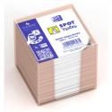 OXFORD Bloc cube 680 feuilles blanches SCRIBZEE 9X9cm avec distributeur plastique gris clair