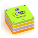 OXFORD Bloc cube 450 feuilles repositionnables 7,5X7,5cm SCRIBZEE. Assortis vert,or,violet,orange,blanc