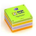 OXFORD Bloc cube 450 feuilles repositionnables 7,5X7,5cm SCRIBZEE. Assortis vert,or,violet,orange,blanc