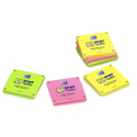 OXFORD Lot 6 blocs notes repositionnables 7,5X7,5cm SCRIBZEE. Coloris assortis jaune, vert, rose