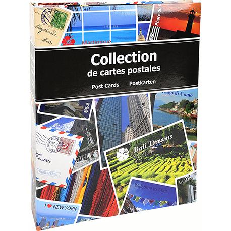 EXACOMPTA Album pour cartes postales en carton pelliculé. Capacité 200 cartes, 100 pages. 20x25,5 cm.