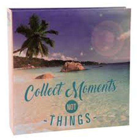 EXACOMPTA Album photos pochettes CITATIONS. Capacité 200 photos. Format : 22,5x22 cm, 2 coloris assortis