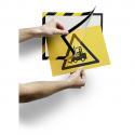 DURABLE Cadre d'aff Duraframe dos adhésif Security A4.L25xH37,5xP0,3cm jne noir pr avertiss et dangers