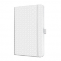 SIGEL Carnet JOLIE 174p 80g lignées, couverture rigide. Format 135x203 mm. Coloris blanc