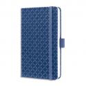 SIGEL Carnet JOLIE 174p 80g lignées,couverture rigide. Format 95x150 mm. Coloris bleu