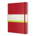 MOLESKINE Carnet 192 pages unie Très Grand Format 19x25cm. Couverture rigide rouge écarlate