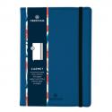 OBERTHUR Carnet CARMEN 200 pages lignées/paginées couverture PU, page garde impr. Format 151x215mm Bleu