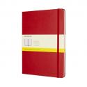 MOLESKINE Carnet 192 pages 5x5 Très Grand Format 19x25cm. Couverture rigide rouge écarlate
