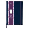 OBERTHUR Carnet CARMEN 200 pages lignées/paginées couverture PU, page garde impr. Format 151x215mm Marron