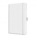 SIGEL Carnet JOLIE 174p 80g lignées, couverture rigide. Format 95x150 mm. Coloris blanc