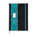 OBERTHUR Carnet CARMEN 200 pages lignée/paginée couverture PU, page garde impr.Format 151x215mm Bleu Azur