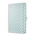 SIGEL Carnet JOLIE 174p 80g lignées, couverture mat rigide. Format 135x203mm. Bleu pastel