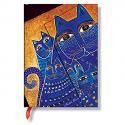 PAPERBLANKS Carnet Laurel Burch Chats Meditérranéens, format Midi 13x18cm 160 pages lignées