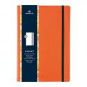 OBERTHUR Carnet CARMEN 200 pages lignées/paginées couverture PU, page garde impr. Format 151x215mm Orange