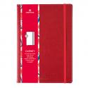 OBERTHUR Carnet CARMEN 200 pages lignées/paginées couverture PU, page garde impr. Format 151x215mm Rouge
